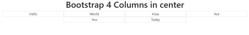 bootstrap col center output